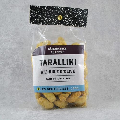 Tarallini à l'huile d'olive au poivre