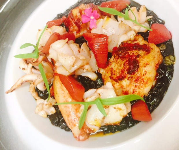 Au restaurant l'Arôme, un plat réalisé avec nos produits