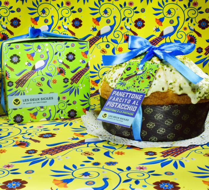 Panettone à la crème de pistache