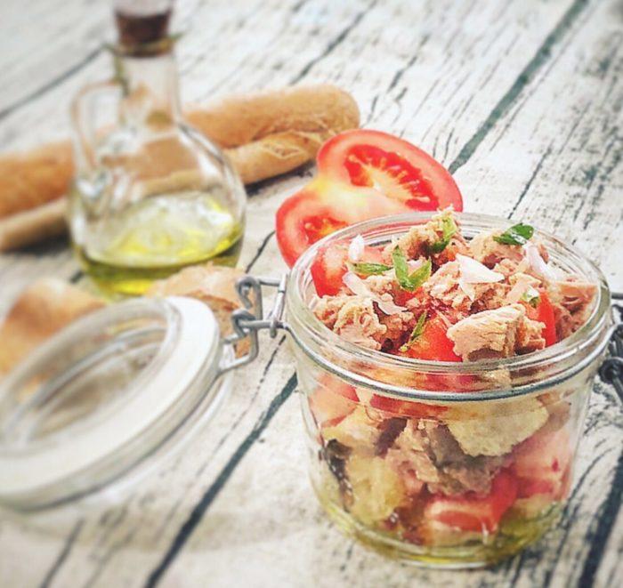 salade de tomates et ventreche