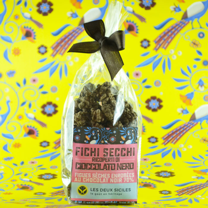 Figues sèches enrobées au chocolat noir 70%