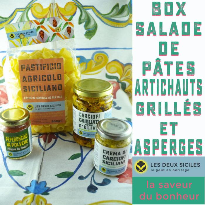 salade de pâtes artichauts et asperges