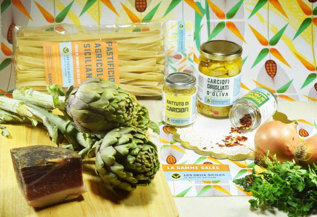 fettuccine artichauts et speack