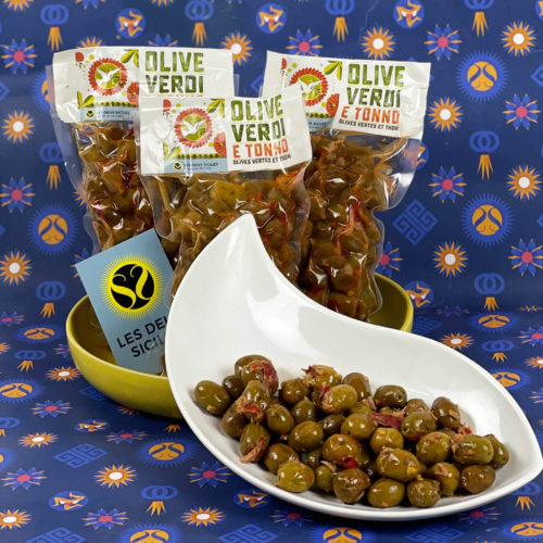 Olives vertes et thon
