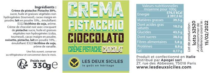 crema pistacchio cioccolato